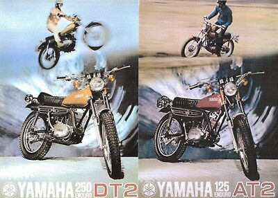 1972 YAMAHA DT2 AT2 250 125 ENDURO SALES AD/ BROCHURE  for sale  Addison
