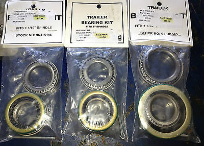 Boat Trailer Wheel Bearing Kits 1 1/16 Straight Spindle
