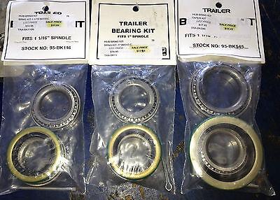 Boat Trailer Wheel Bearing Kits 1 Straight Spindle