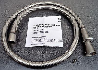 Edelstahl-Abgasschlauch 1,5m Honda Stromerzeuger