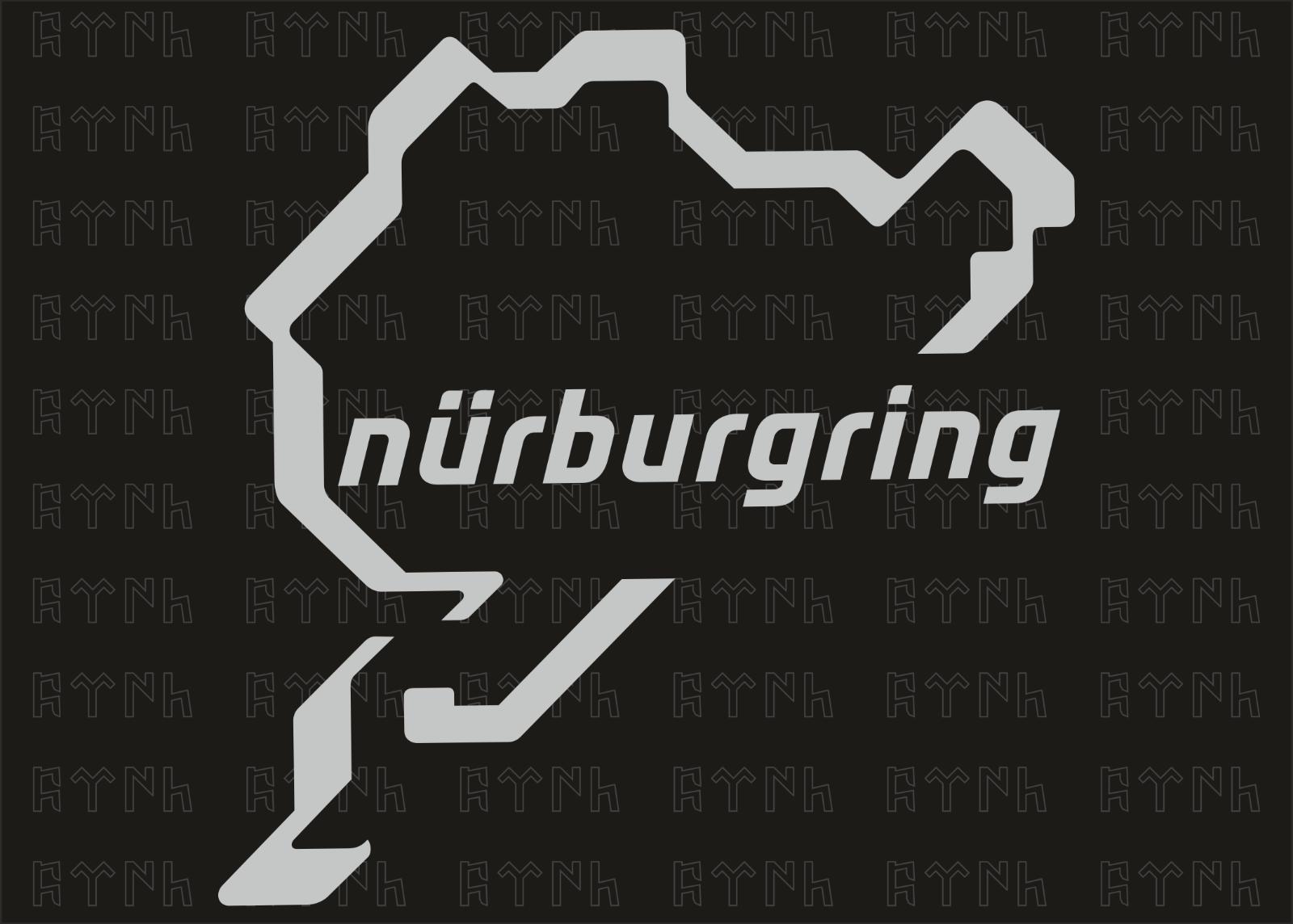 n rburgring aufkleber 10cm auto tuning motorsport. Black Bedroom Furniture Sets. Home Design Ideas