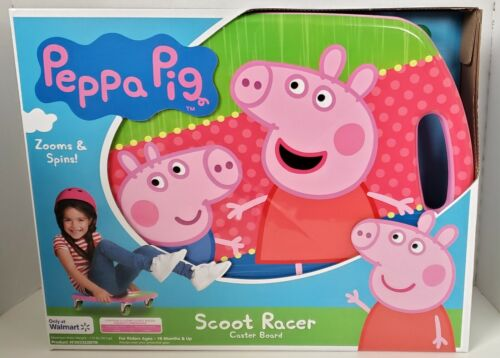 Scoot Racer PEPPA PIG Scooter Board with Casters for Kids