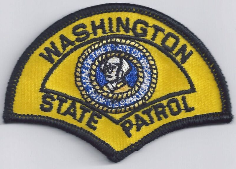 WASHINGTON STATE PATROL - SMALL SHOULDER PATCH - IRON OR SEW-ON PATCH