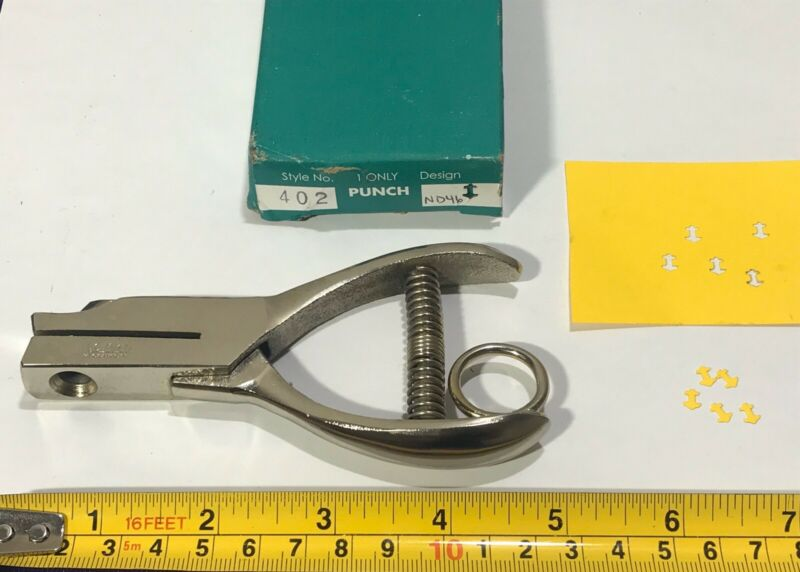 "M. C. Mieth 3/8"" Round Custom Anchor Shape Hand Punch Tool"