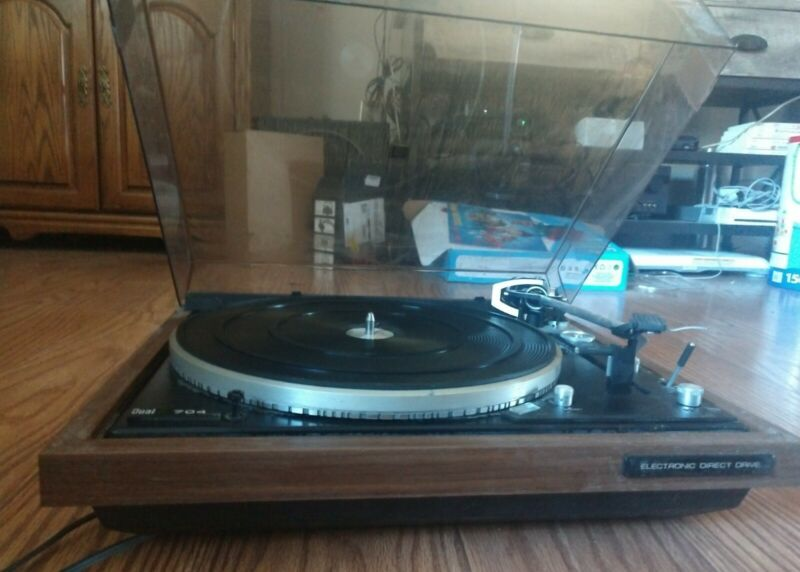 Dual CS 704 turntable/ Direct Drive  New Sure  Cartridge / Manual &  Dust Cover