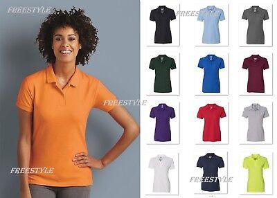 (Gildan - DryBlend® Women's Double Pique Short Sleeve Sport Polo T-Shirt 72800L)