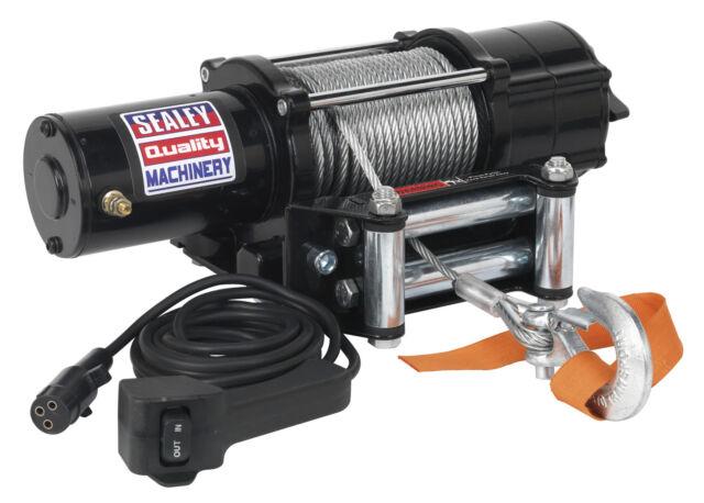 Sealey ATV2040 ATV / Quad Recovery Winch 2040kg Line Pull 12V