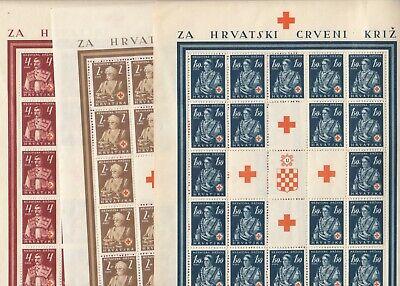 KROATIEN Rotes Kreuz Bogen Stecherzeichen 1941
