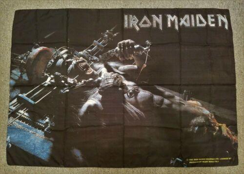 Iron Maiden 1995 Flag X Factor Rare Vtg Tapestry Poster tour t shirt tix guitar