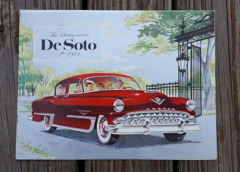 Original Vintage 1953 Desoto Sales Brochure Fire Dome V-8 Powermaster 6