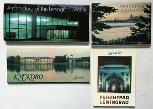 Lot of Four Sets of Post Cards. Printed in Russia.   (BI#BDR/BX/180717)