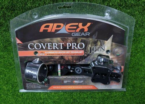 Apex Covert Pro Single Pin Adjustable Green Dot Archery Bow Sight - AG2301BD
