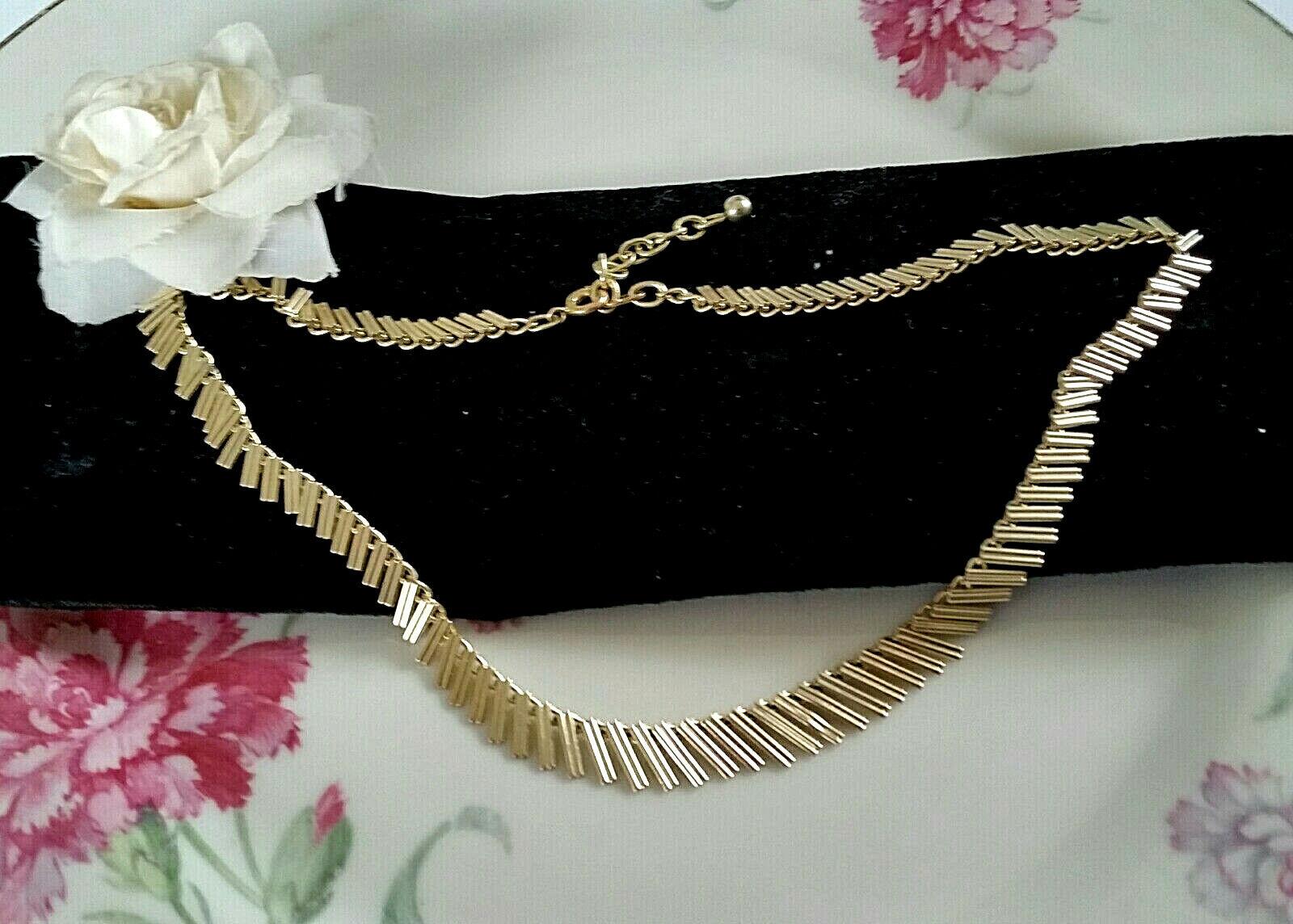 Vintage zierliche 60er Jahre Kette Collier 43 cm Americ Gold Double