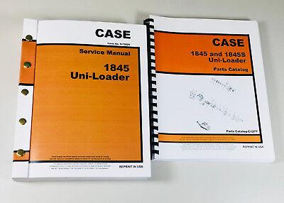 Case 1845 Uni Loader Skid Steer Service Manual Parts Catalog Shop Book Overhaul