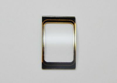 Curved Convex Style Rectangular Watch Mineral Crystal 13.75mm x 22mm Black Gold ()