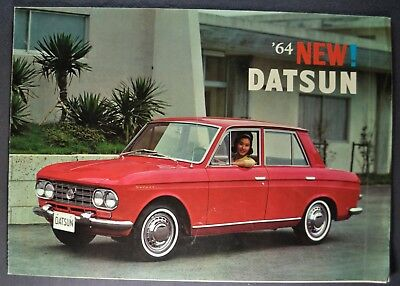 1964 Datsun Sedan Sales Brochure Folder Bluebird Nice Original 64 segunda mano  Embacar hacia Mexico