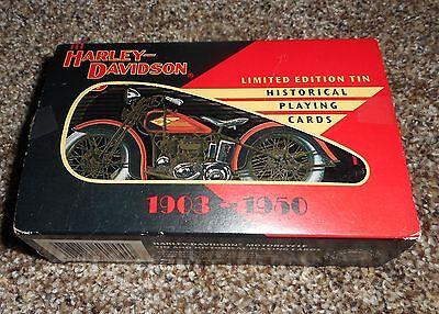 Harley Davidson Historical Playing Cards 1903-1950 Ltd Edition Collectible Tin