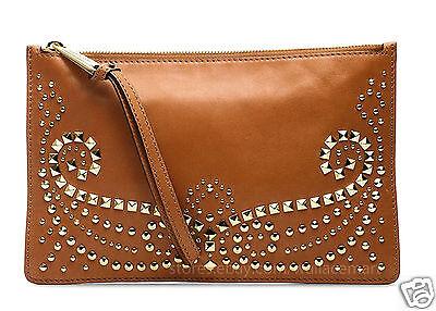 Michael Kors Tasche/Clutch/Bag Rhea Studded Leather Large Zip Luggage  NEU!