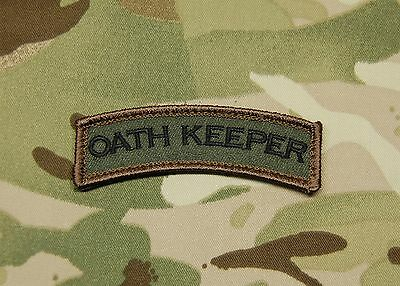Oath Keeper Tab Patch M81 Woodland US Army Morale Patch Afghanistan Hook & Loop](Oath Keeper)