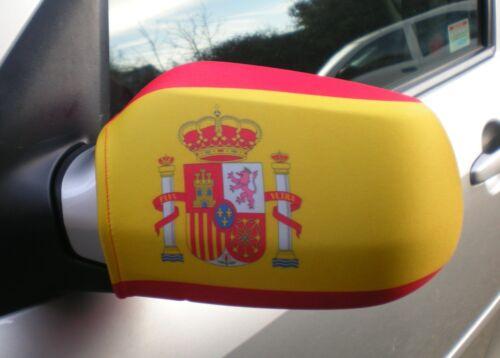 CAR WING MIRROR SOCKS FLAGS, COVERS, FLAG-UPS! - ESPANIA - SPAIN SPANISH