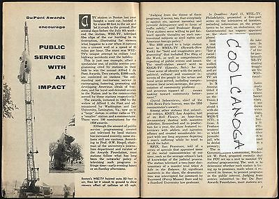 1960 Tv Article Wbz Boston Station Drops Car For Public Service Alfred I Dupont