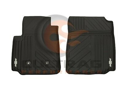2015 2018 Colorado GM Front All Weather Floor Mats Black Bowtie Logo 23229842