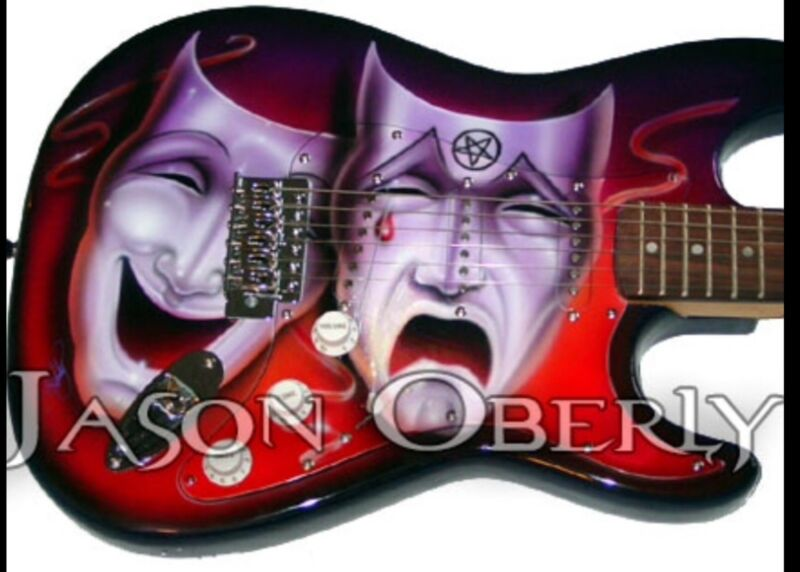 Motley Crue theatre of pain Airbrushed strat Guitar