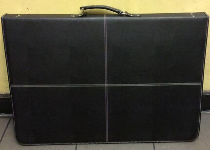 Jasart art folio A3 folder with plastic pockets Leather carry bag Melbourne CBD Melbourne City Preview