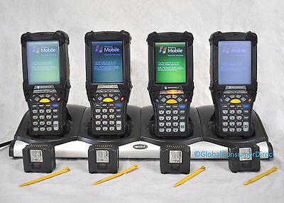 Lot Of 4x Motorola Symbol Mc9090-su0hjafa6wr Mc9090s 1d Barcode Scanner Cradle
