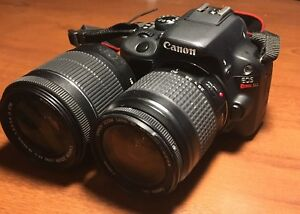 Canon EOS Rebel SL1 DSLR + extra lens and accessories