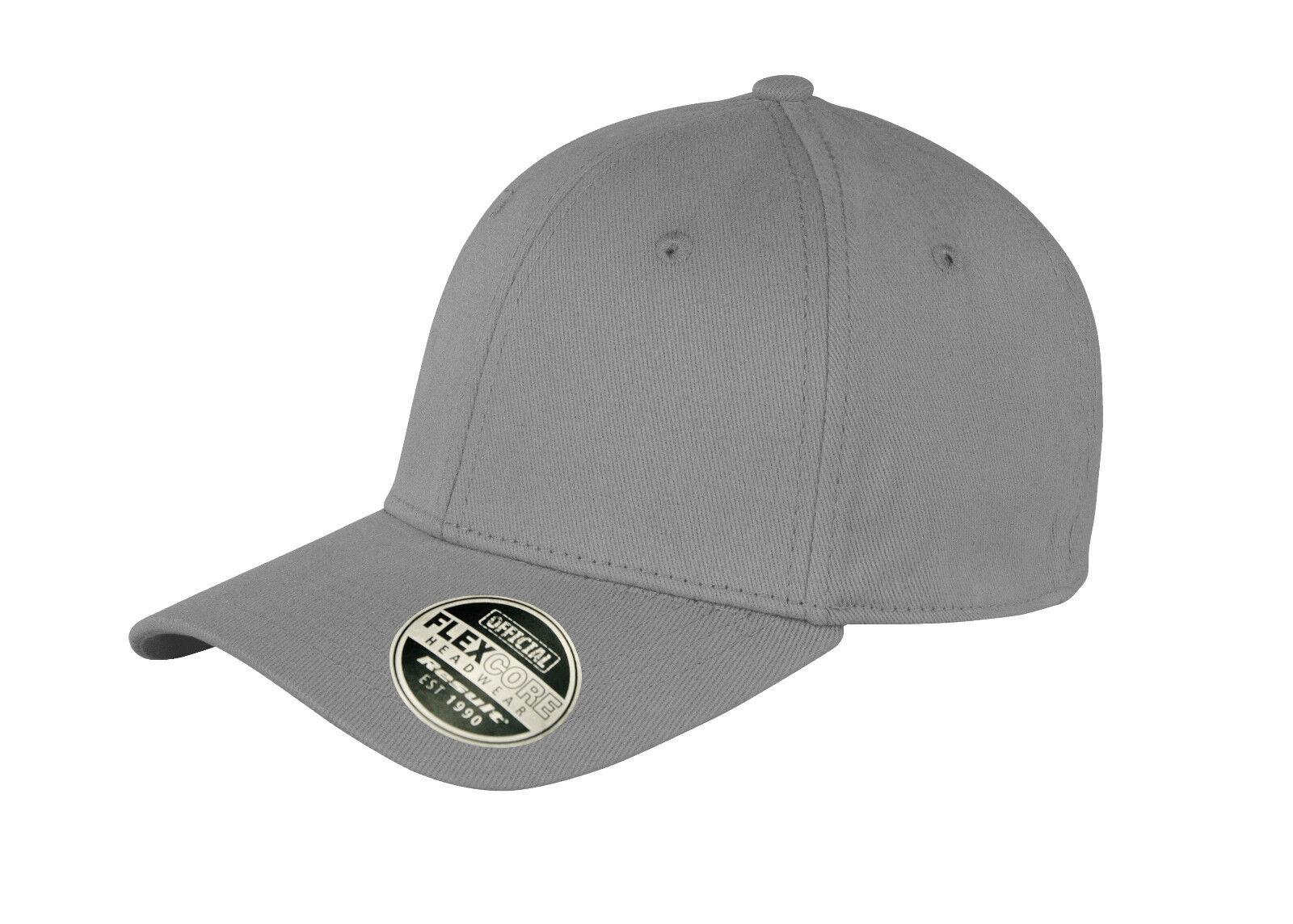 39d52056239a1 Details about New Unisex Plain Grey Flexible Fit Flex Core Cotton Fitted Baseball  Cap