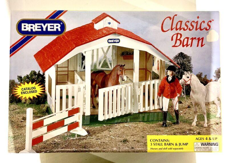 Breyer 2007 Classics Barn 3 Stall Barn & Jump Original Box Never Used w/ Catalog