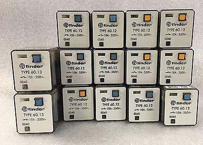 Lot Sale-14 Items Finder Relay 60.12 10a 250v 24 Vdc 60.13 10a 250v 24 Vdc