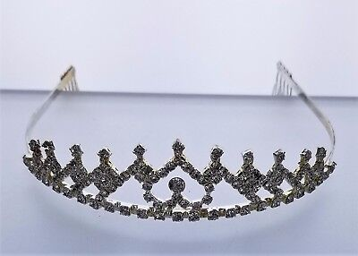 Bridal,Pageant,Silver, Rhinestone,Crystal,Prom,Wedding,Crown Tiara,#12,Comb New! for sale  Shipping to Nigeria