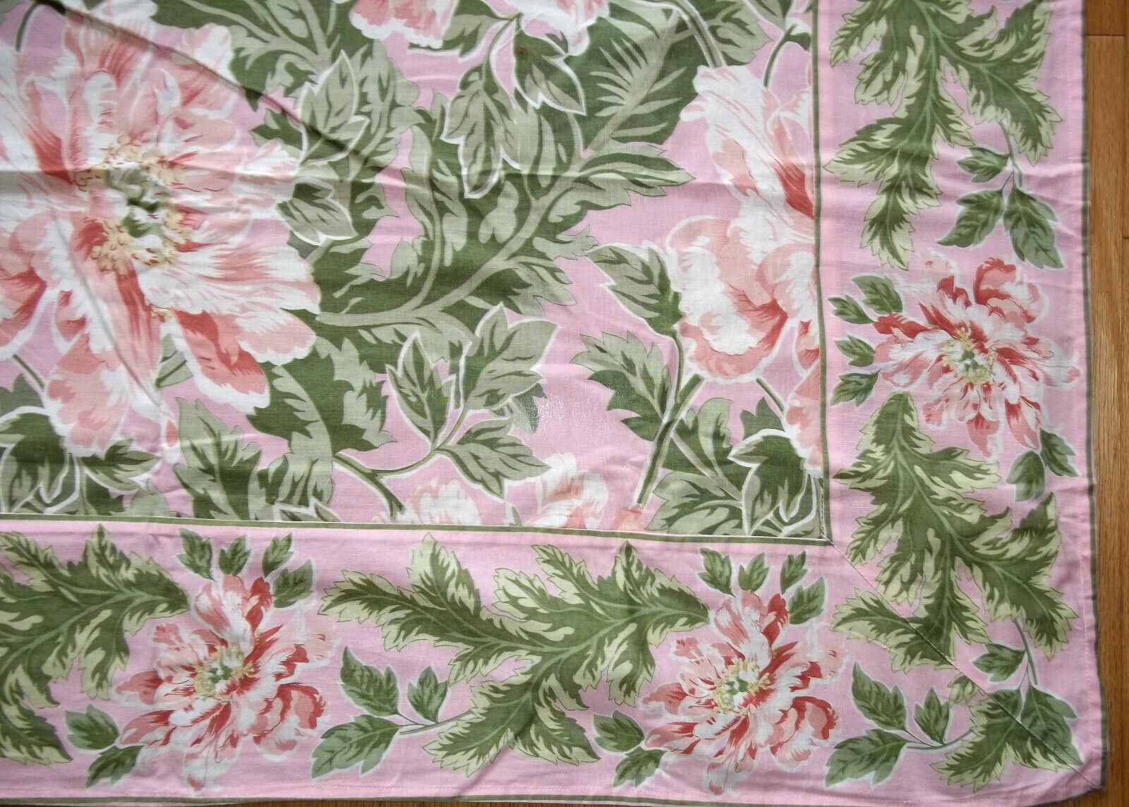 APRIL CORNELL tablecloth 60 x 90 pink peach green NEW FREE S