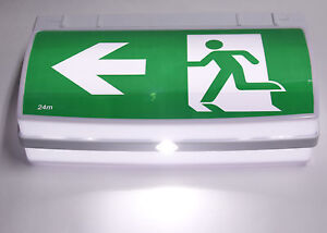 NEW 3W LED Viper Exit Sign Emergency Light Running Man Includes 3W Spitfire