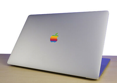 Retro Rainbow Apple Decal Sticker for MacBook Pro 2017 and Late 2016