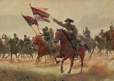General Hampton,The Cadet Rangers, Trevilian Station Military Civil War Postcard