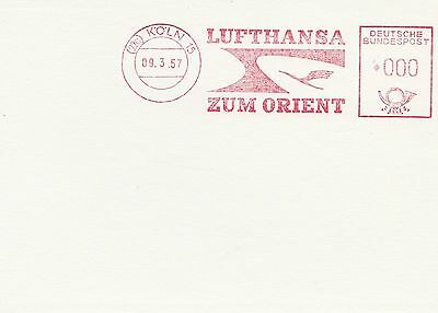(91509) Germany Cover Lufthansa Zum Orient Cologne 9 March 1957 on Lookza