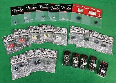 Lot of Fender, AllParts, Q-Parts, Guitar Knobs - Dice, Skull, Shotgun Shell 24pc