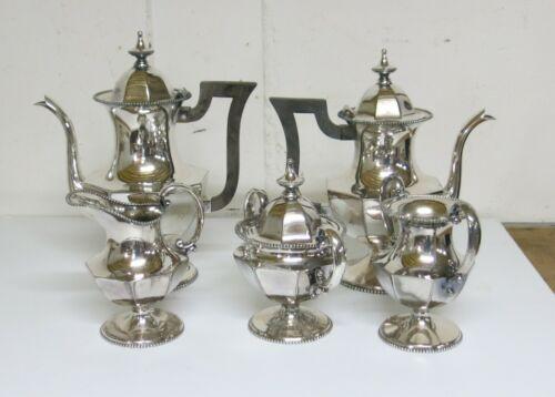 Vintage James W. Tufts Silverplate Coffee Tea Set