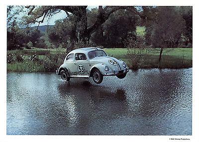 Rare Vintage Unused Walt Disney Production Herbie The Lovebug Fan Postcard 5 x 7