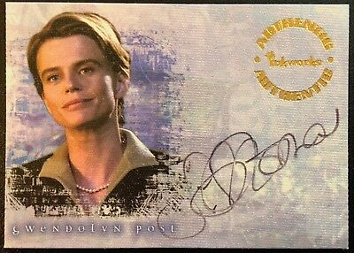 SERENA SCOTT THOMAS - BUFFY REFLECTIONS AUTOGRAPH CARD - A5 - GWENDOLYN POST
