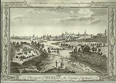 Antique Map  A Prospect Of Dublin  The Capital Of Ireland