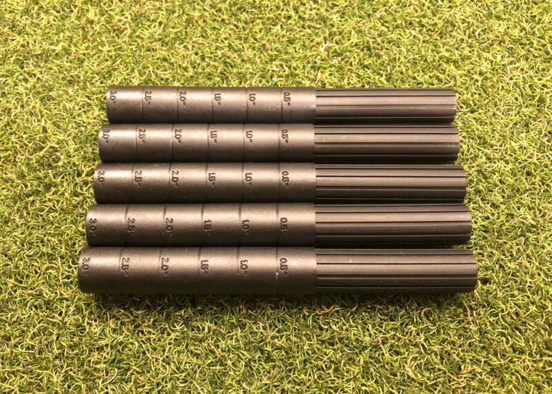 "(5) Premium Graphite Golf Shaft Extender Extensions 3""  .600 Butt Dia."