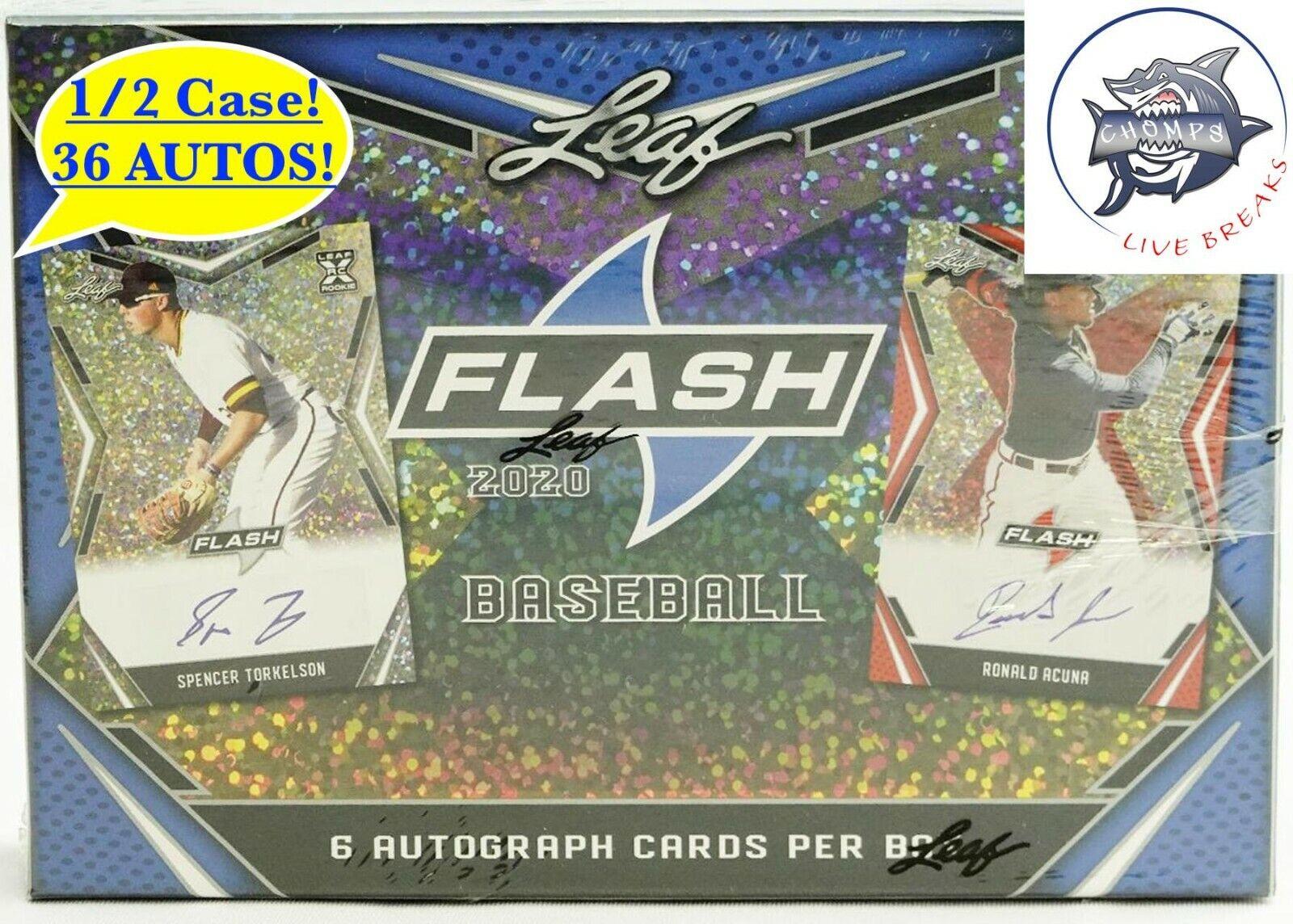 LOS ANGELES DODGERS - 2020 Leaf Flash 1/2 Case Break 2 - 6 Boxes 36 AUTOS  - $4.99