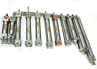 Lot Of 11 Phd Av Series 150 Psi Pneumatic Cylinders 34 1 1-18 Bore Sizes