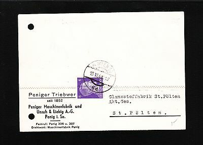 WWII GERMANY TYPEWRITER COVER VIENNA 1943 PENIGER MACHINE FACTORY ILLUSTRATED 3U