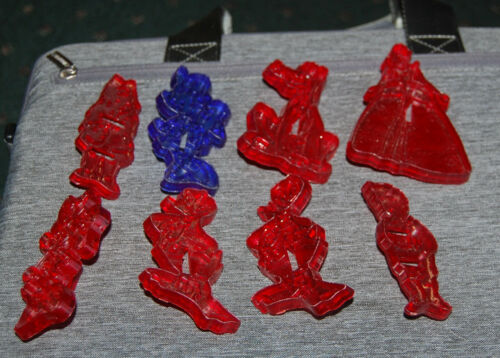 7 Vintage 1960s Disney Character Plastic Christmas Cookie Cutters