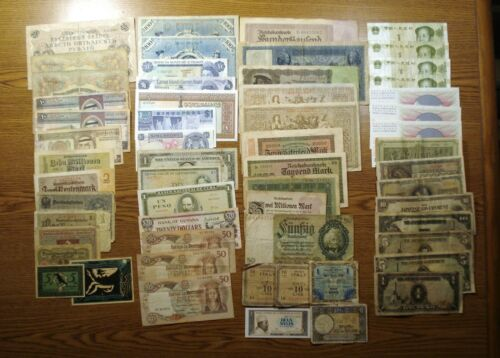 Lot of 58 Banknotes from all over the world